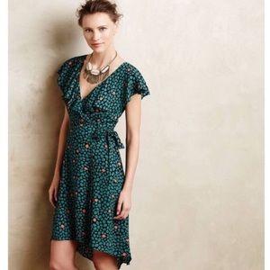 Anthropologie faux wrap dress, size 2